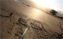 jesus in sand