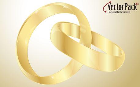 Wedding gold rings (10219)