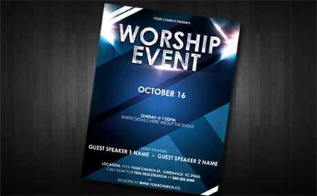 Media Worship Event Flyer – Event Brochure Template