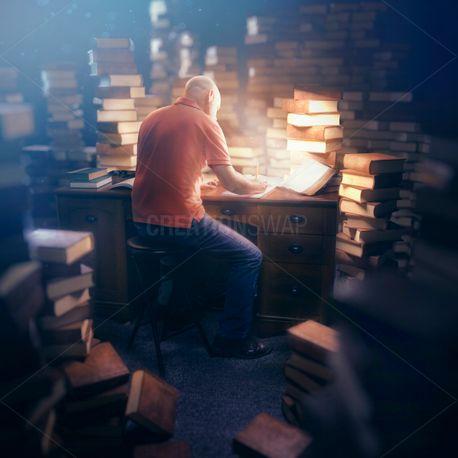 Man in deep study (100211)