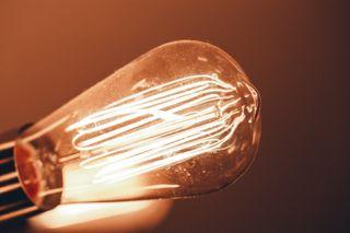 Close up Edison Light bulb