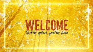 Fall Welcome Slide