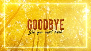 Fall Goodbye Slide