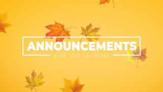 Announcements Autumn Leaves