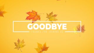 Goodbye Autumn Leaves