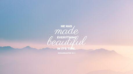 Ecclesiastes 3:11 (100907)