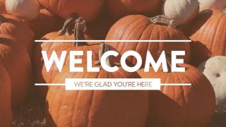 Pumpkin Film Welcome