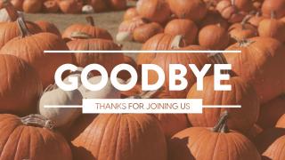 Pumpkin Film Goodbye