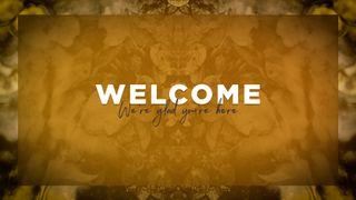 Orange Welcome Slide