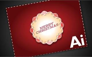 Merry Christmas invite card