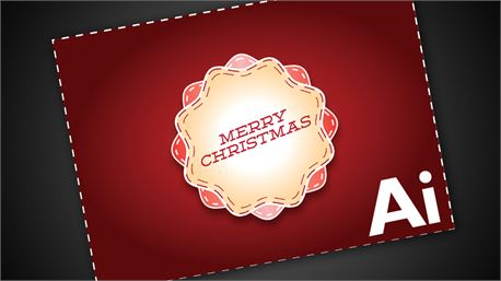Merry Christmas invite card (11015)