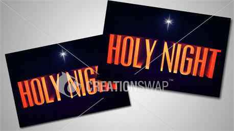 Holy Night Post card's (11018)