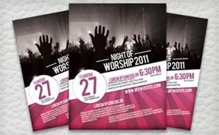 Night of Worship Flyer