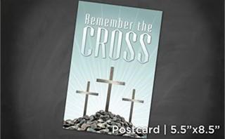 Remember Cross   Postcard 5x8