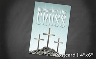 Remember Cross   Postcard 4x6