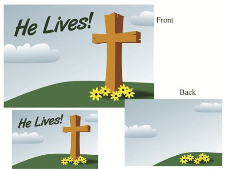 He Lives - Postcard (12039)