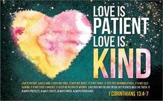 Love Is Patient Postcard