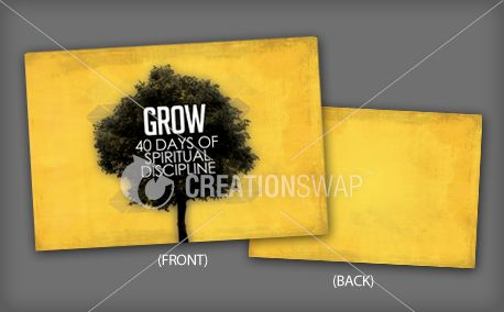 GROW (postcard) (12507)