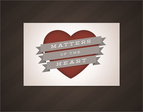 Matters of the Heart postcard (12576)
