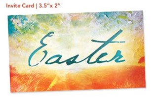 Easter Canvas - Invite Card