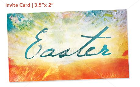 Media Easter Canvas Invite Card – Easter Invitation Cards