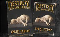 Resist Easter 2 Postcards