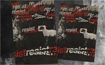 Resist Easter 5 Postcards
