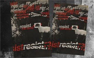 Resist Easter 5 Postcards