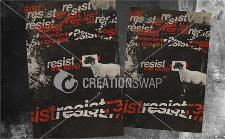 Resist Easter 5 Postcards (12801)