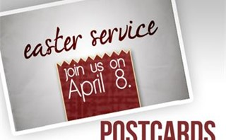 Easter Service Postcards