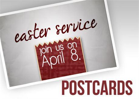 Easter Service Postcards (12945)