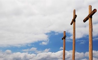 Three Crosses and Clouds