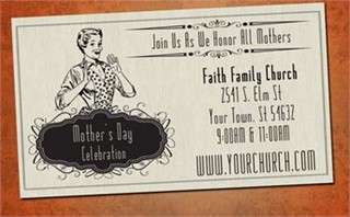 Mother's Day Retro Invite Card