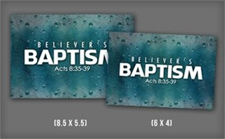 Believer's Baptism Postcards