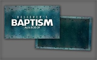 Believer's Baptism Invite Card