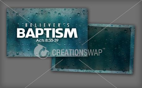 Believer's Baptism Invite Card (14537)