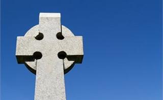 Celtic Cross and Blue Sky