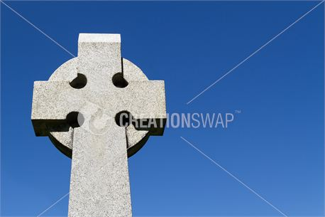 Celtic Cross and Blue Sky (14636)