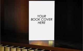 Blank Book on a Shelf