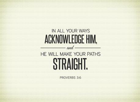 Acknowledge Him (15048)