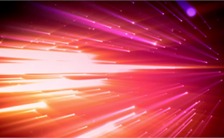 Pink Orange Light Waves