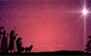Shepherds Christmas Background