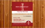 Men's Breakfast | Invite Card (20074)