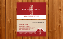 Men's Breakfast | Invite Card