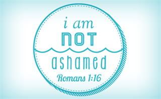 I Am Not Ashamed Baptism Logo