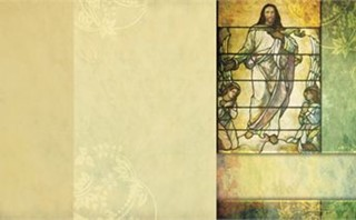 Jesus Stained Glass Bulletin