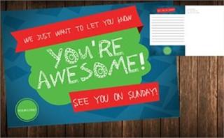 You're Awesome: Kids Postcard