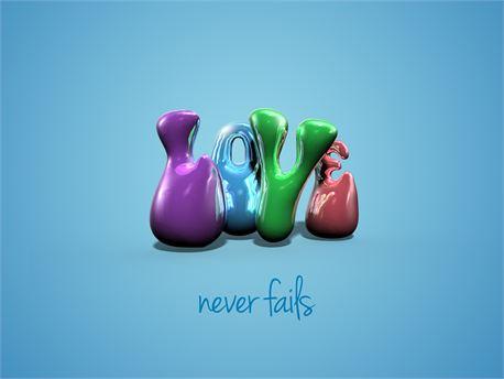 Love never fails (21200)