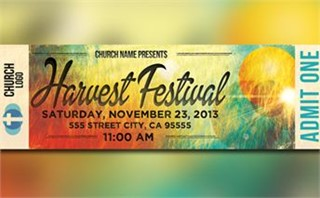 Harvest Festival Ticket Flyer