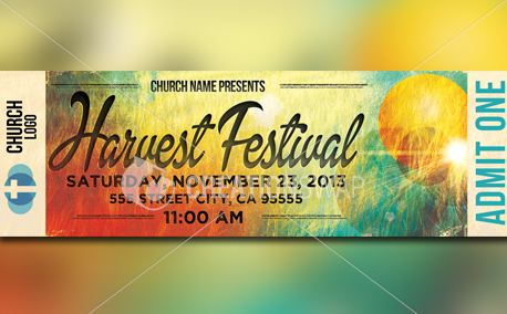 Harvest Festival Ticket Flyer (21441)